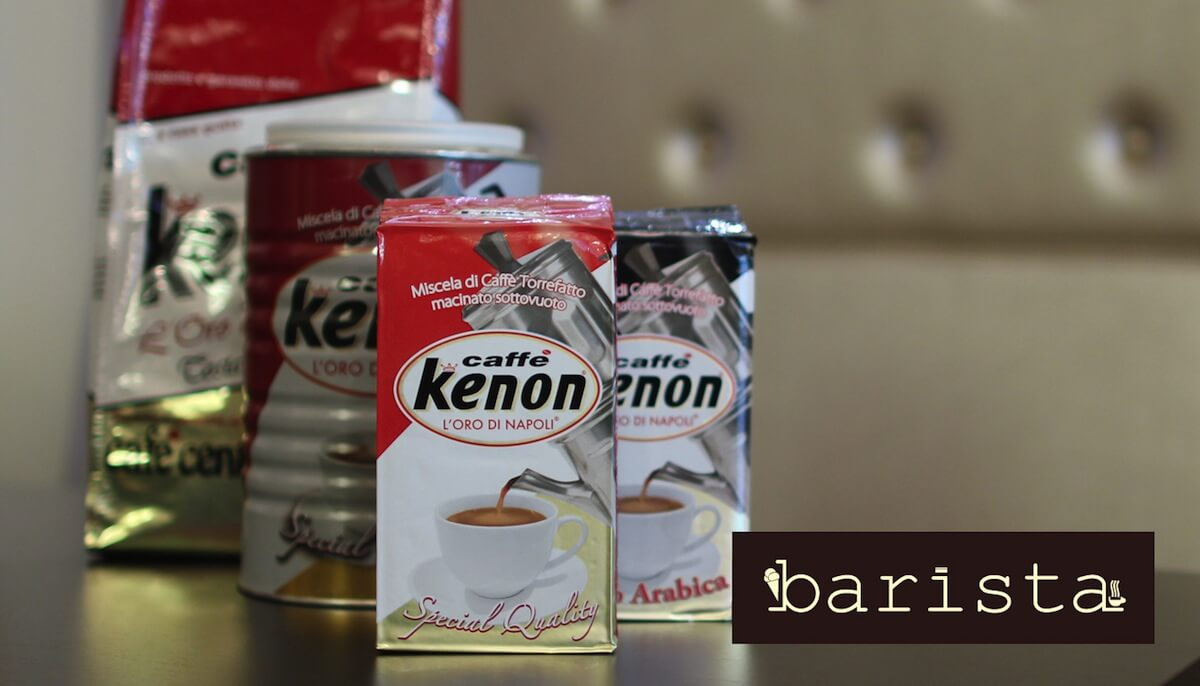 Kenon coffee products imported from Italy.