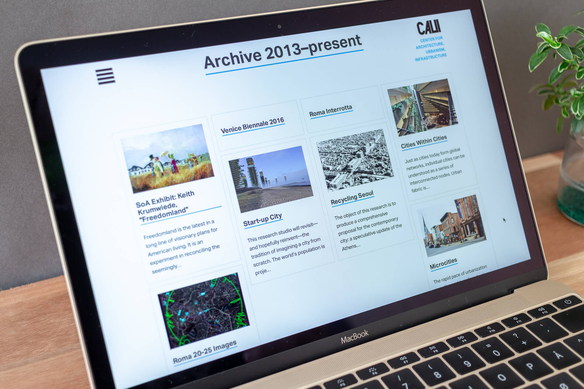 Archive overview.