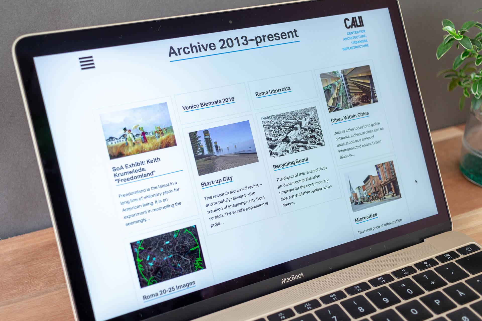 Demonstração de artigo no site.