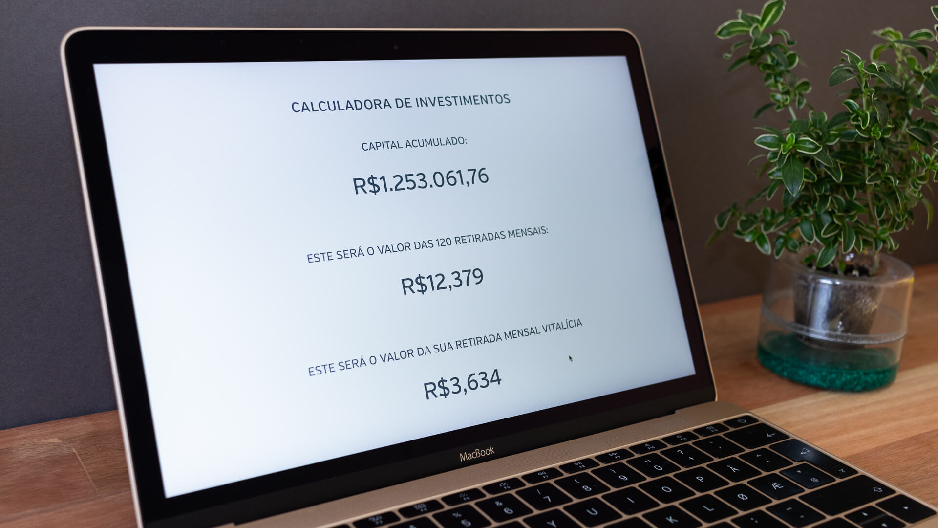Step #4 of the investment calculator.