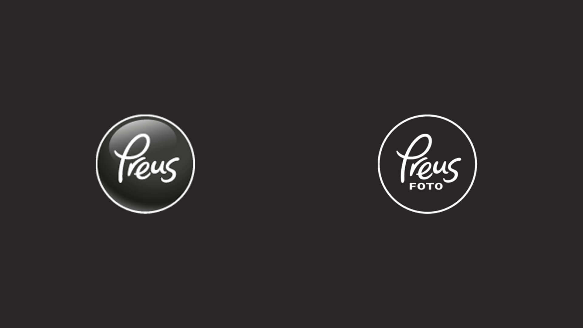 Before on the left and after on the right modernizing the logo design.