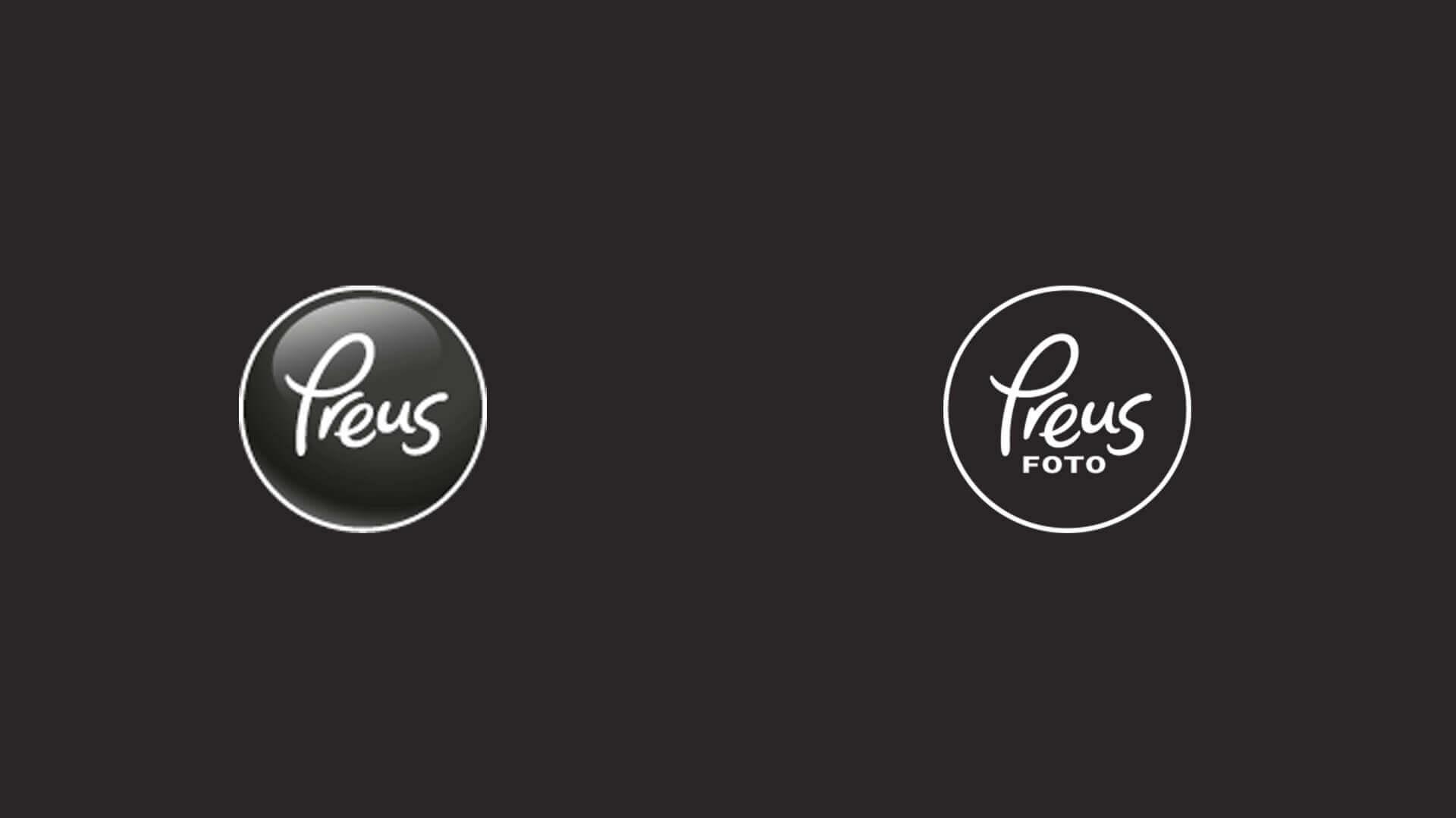 Antes à esquerda e depois à direita modernizando o design do logotipo.