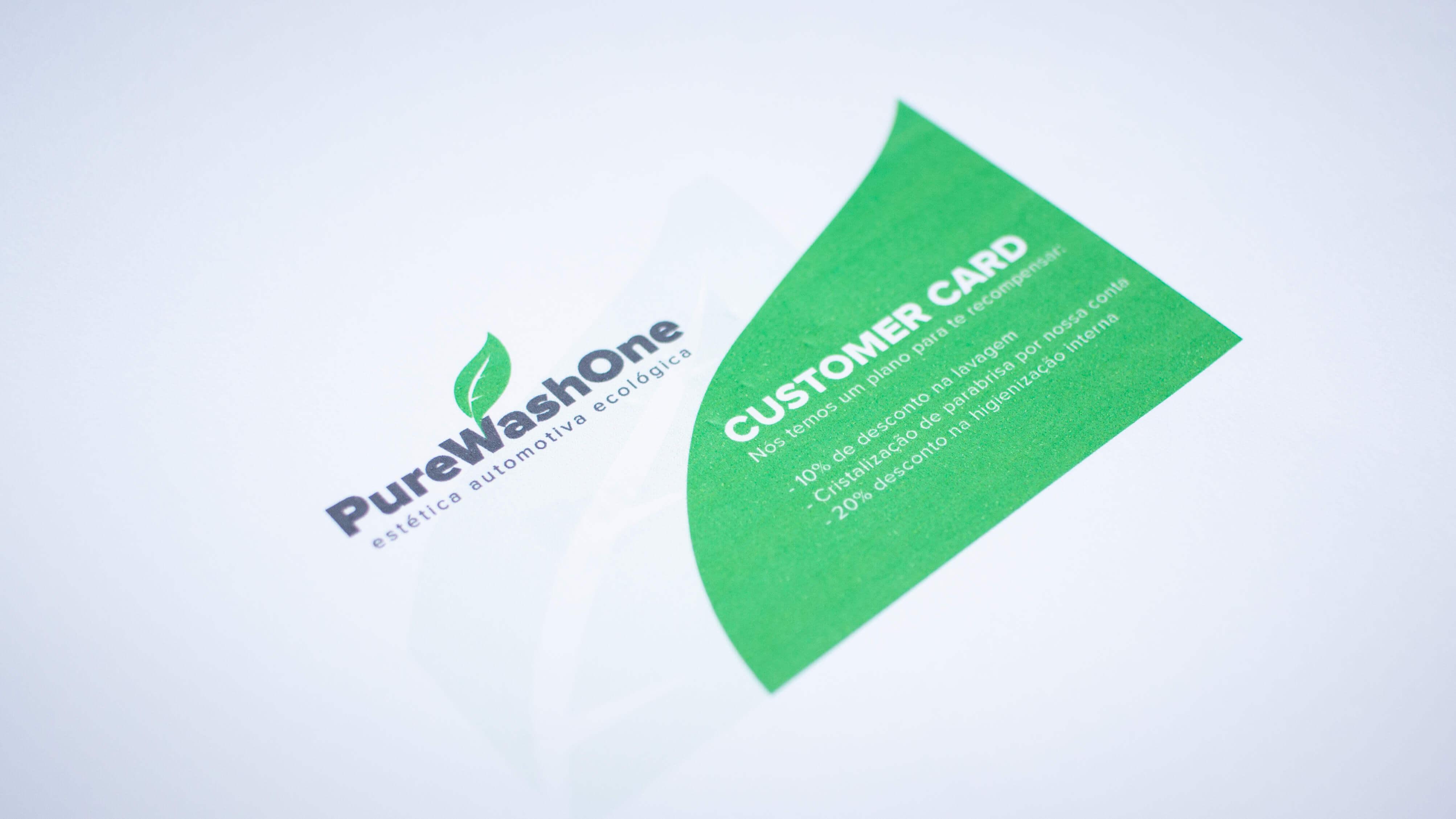 Customer loyalty card draft.